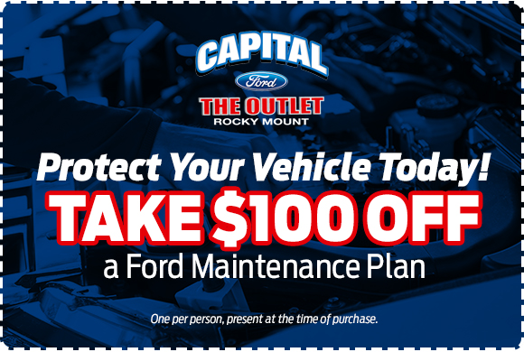 Save $100 off a Ford scheduled maintenance plan