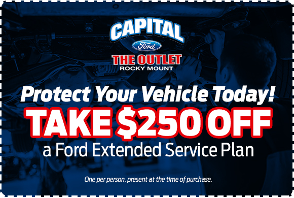 Save $250 off a Ford extended service plan